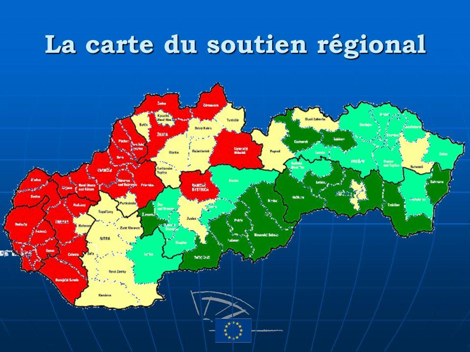 La carte du soutien régional