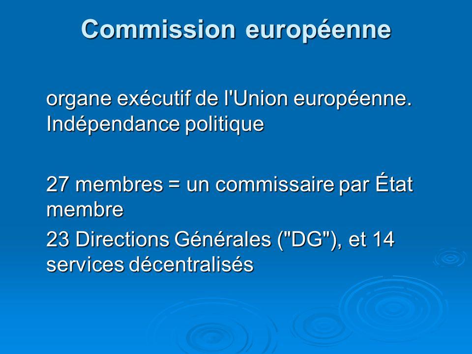 Commission européenne organe exécutif de l Union européenne.