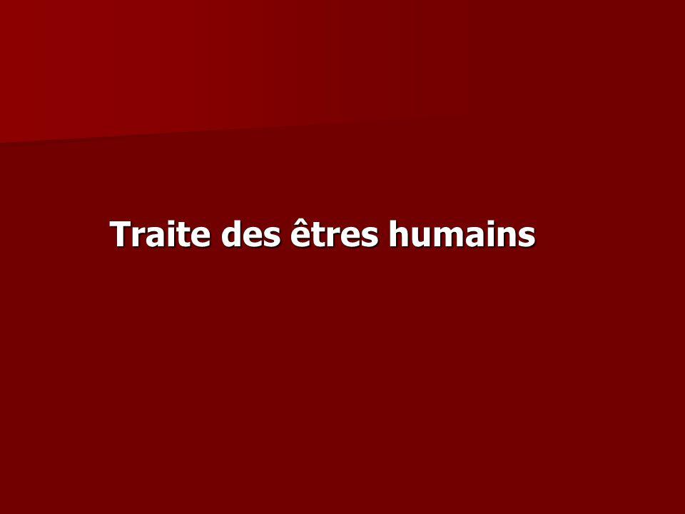 Traite des êtres humains