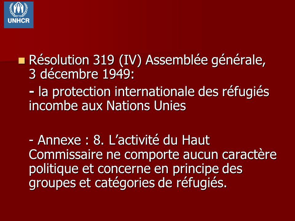 Résolution 319 (IV) Assemblée générale, 3 décembre 1949: Résolution 319 (IV) Assemblée générale, 3 décembre 1949: - la protection internationale des r