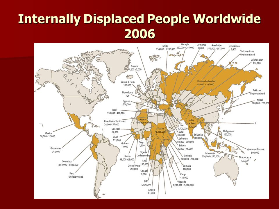 Internally Displaced People Worldwide 2006