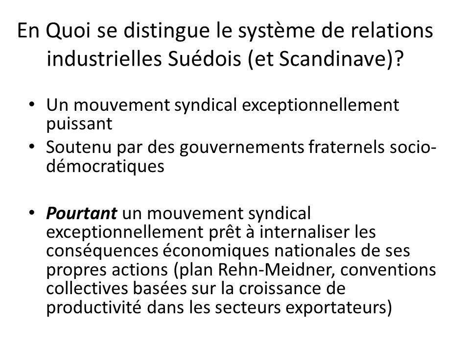 En Quoi se distingue le système de relations industrielles Suédois (et Scandinave).