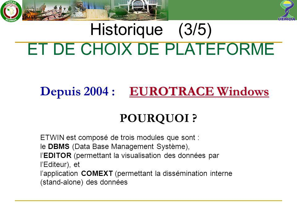 EUROTRACE Windows Depuis 2004 :EUROTRACE Windows POURQUOI .