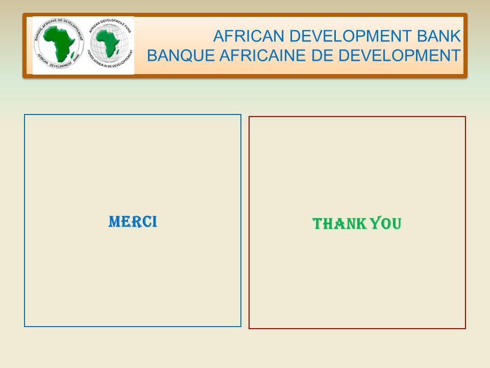 AFRICAN DEVELOPMENT BANK BANQUE AFRICAINE DE DEVELOPMENT MERCI THANK YOU