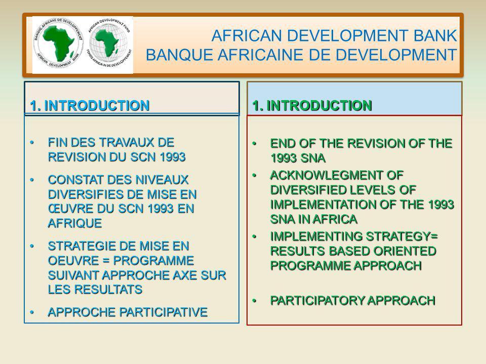 AFRICAN DEVELOPMENT BANK BANQUE AFRICAINE DE DEVELOPMENT 1.