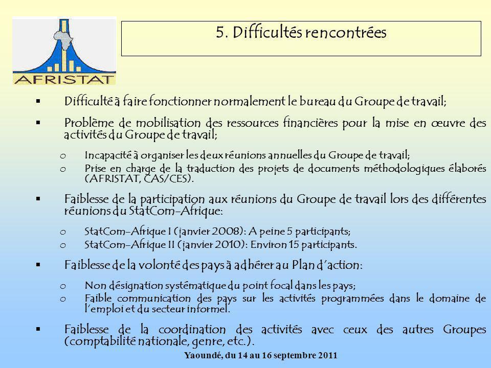 Yaoundé, du 14 au 16 septembre 2011 5.