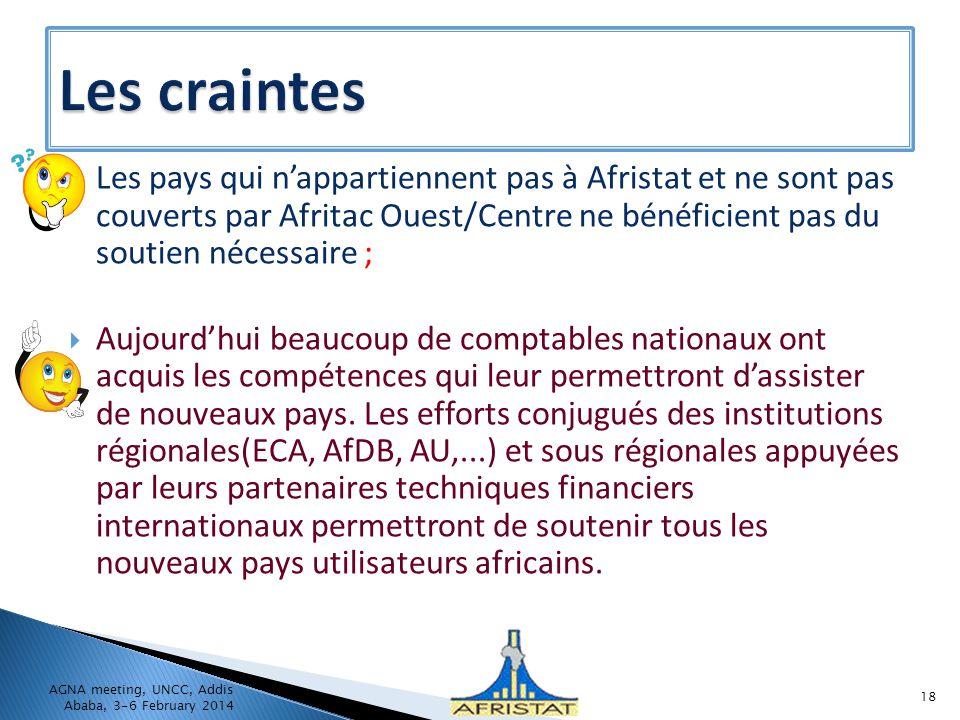 Les pays qui nappartiennent pas à Afristat et ne sont pas couverts par Afritac Ouest/Centre ne bénéficient pas du soutien nécessaire ; Aujourdhui beau