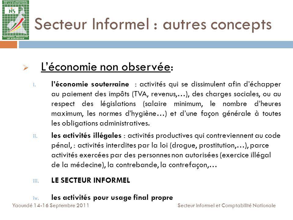 Léconomie non observée : i. léconomie souterraine : activités qui se dissimulent afin déchapper au paiement des impôts (TVA, revenus,…), des charges s