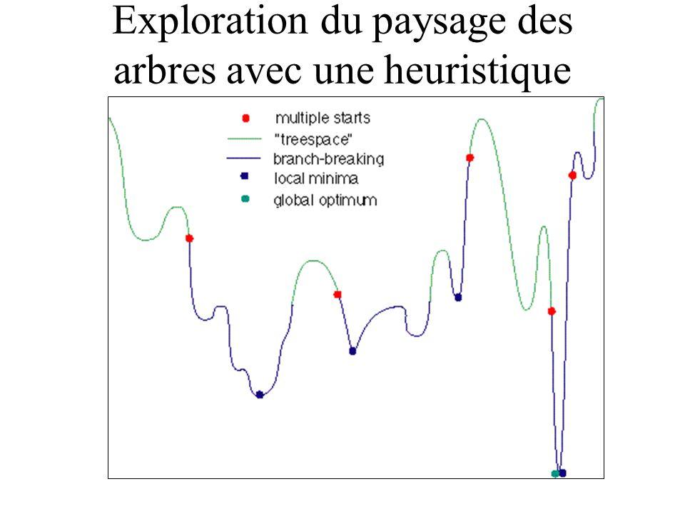 Exploration du paysage des arbres avec une heuristique