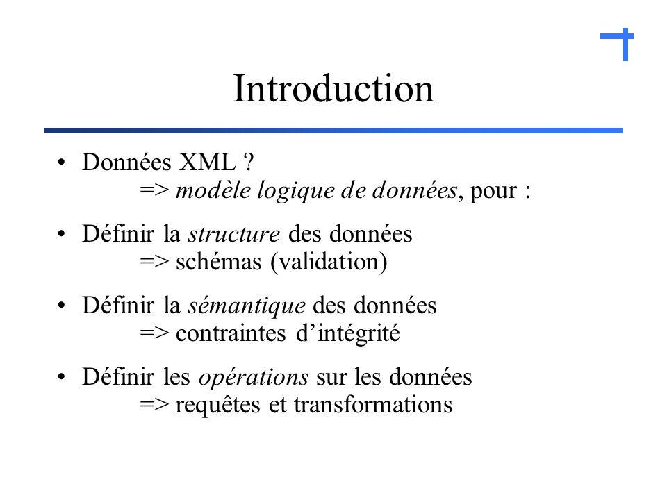Introduction Données XML .