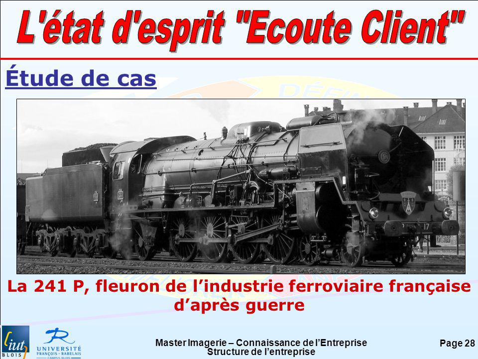 Master Imagerie – Connaissance de lEntreprise Structure de lentreprise Page 28 Étude de cas La 241 P, fleuron de lindustrie ferroviaire française dapr