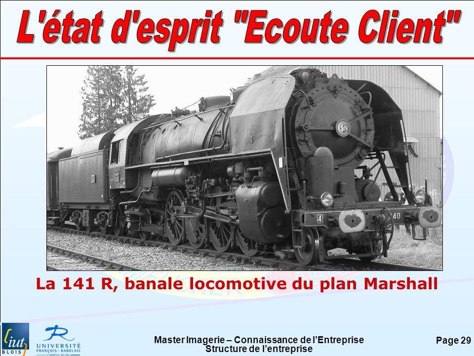 Master Imagerie – Connaissance de lEntreprise Structure de lentreprise Page 29 La 141 R, banale locomotive du plan Marshall