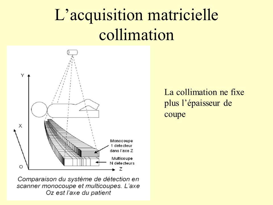 Lacquisition matricielle collimation La collimation ne fixe plus lépaisseur de coupe