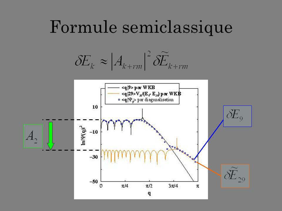Formule semiclassique