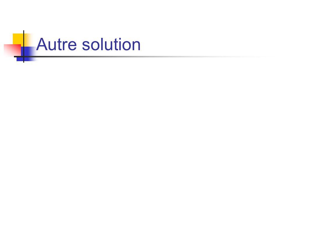 Autre solution