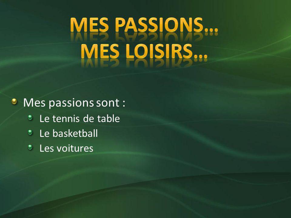 Mes passions sont les mêmes que mes loisirs parce que je pratique mes activités favorites quand jai du temps libre.