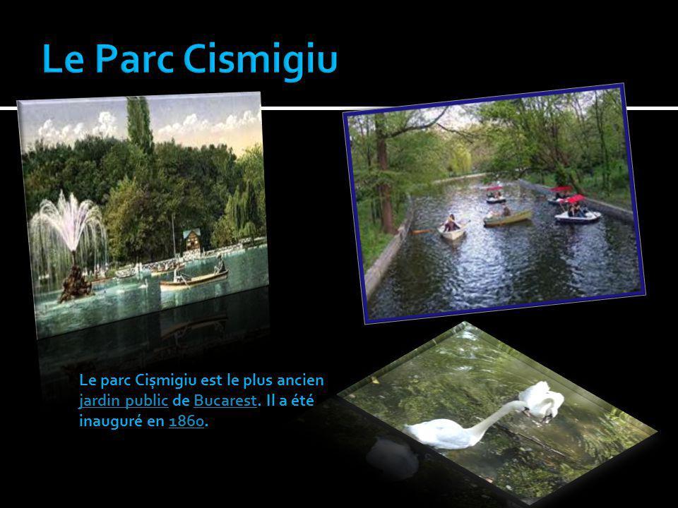 Le parc Cișmigiu est le plus ancien jardin public de Bucarest. Il a été inauguré en 1860. jardin publicBucarest1860