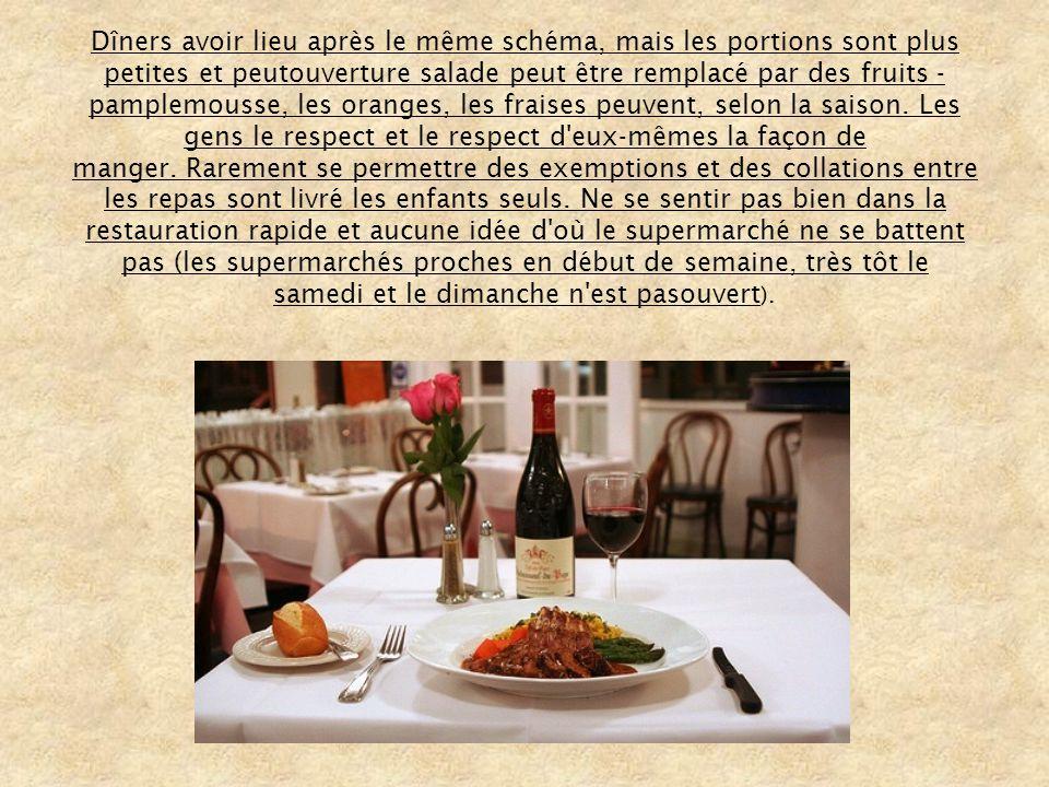 La cuisine française est divisé en trois catégories: 1.