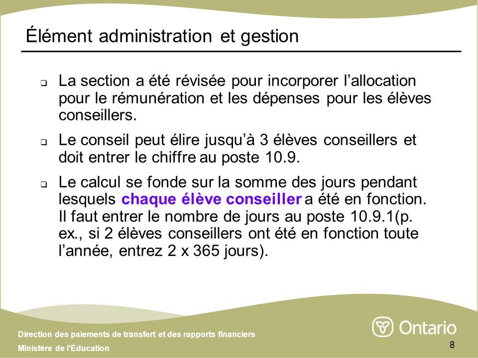 Direction des paiements de transfert et des rapports financiers Ministère de lÉducation 29 Présentation incomplète Une présentation complète inclut : Deux (2) copies signées des tableaux 1, 1.1 et 1.2 et la section 1, imprimées à partir de la présentation active dans le SIFE.
