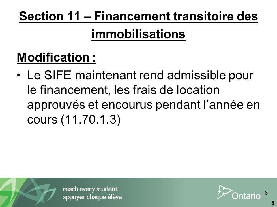 67 Tableau 5.2 – Comptes débiteurs de la province (suite) Ce tableau est rempli à laide de linformation tirée du modèle de la révision daffectation des subventions dimmobilisations ainsi que des montants générés à partir du tableau 5 – Détails de lexcédent/(déficit) accumulé, et du tableau 5.1 – Revenus reportés Montant pris en charge : financé en permanence (colonne 1) Le montant total pris en charge, financé en permanence est inscrit par les conseils à laide du modèle de la révision daffectation des subventions dimmobilisations (onglet 12, section SIFE) et représente la tranche de la dette en cours que le ministère constatera dans le cadre de la révision daffectation des subventions dimmobilisations Montant pris en charge : non financé en permanence (colonne 2) Le montant total pris en charge, non financé en permanence est également inscrit par les conseils à partir des montants du modèle de la révision daffectation des subventions dimmobilisations (onglet tableau 3, page 3 du SIFE).