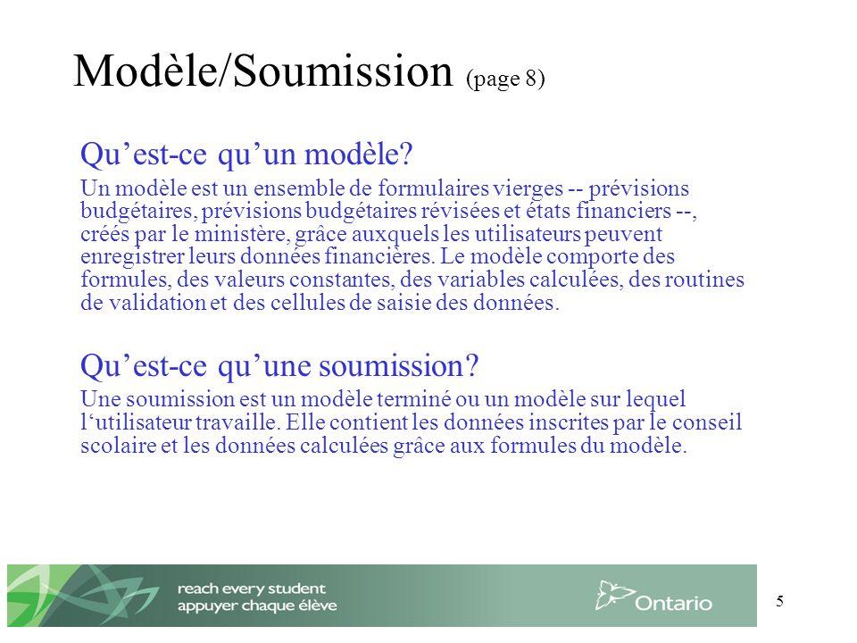 5 Modèle/Soumission (page 8) Quest-ce quun modèle.