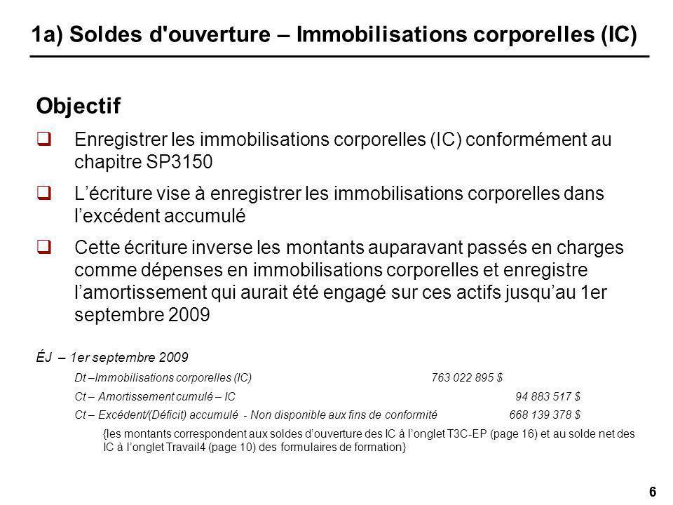 67 2d) Opérations de l exercice – ACR Amortissement des dépenses en immobilisations non soutenues après le 31 août 2010 (formulaire p.