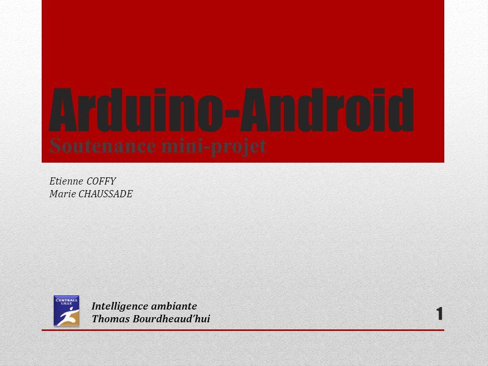 12 II.Mini-projet: Métronome Arduino : Communication Android A laide des librairies AndroidAccessory, Usb et Max3421e Initialisation obligatoire de lAndroidAccessory Arduino est Usb host et android est accessoire.