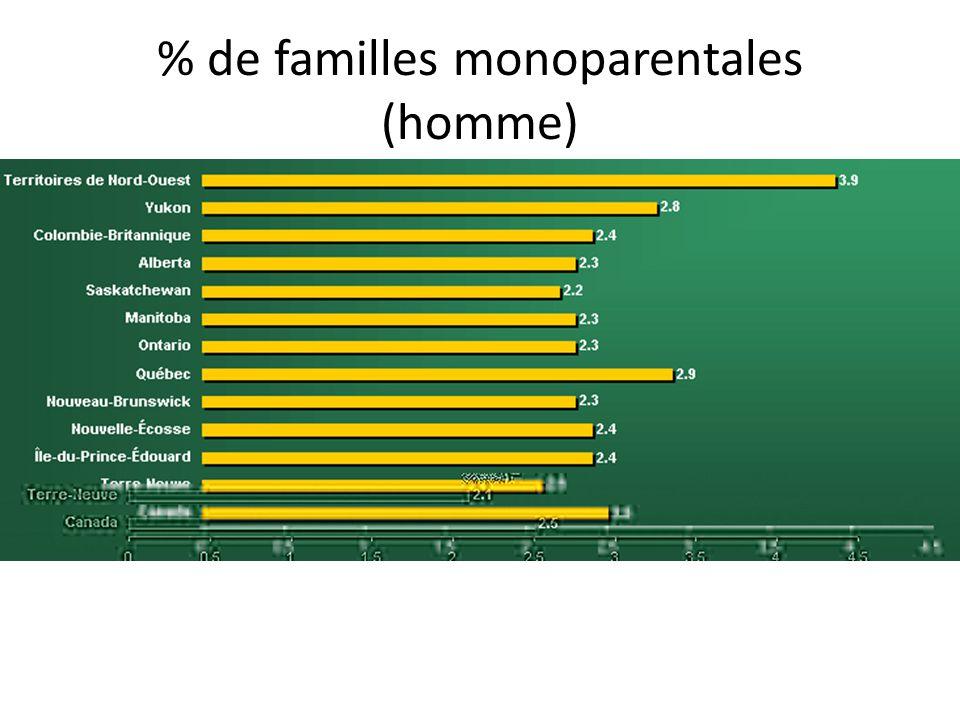 % de familles monoparentales (homme)