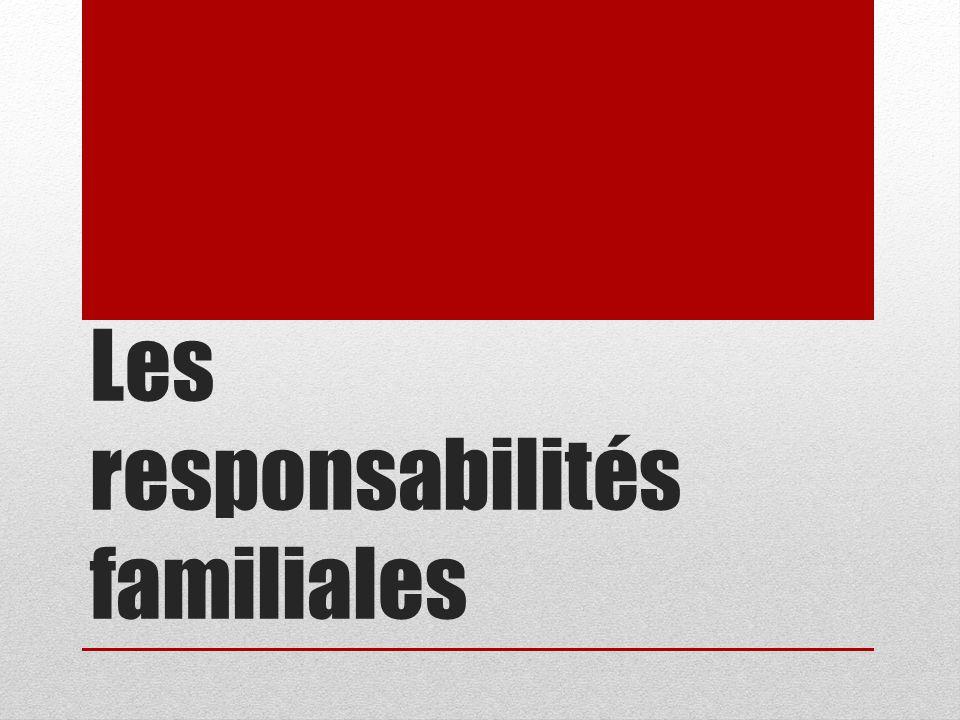 Les responsabilités familiales
