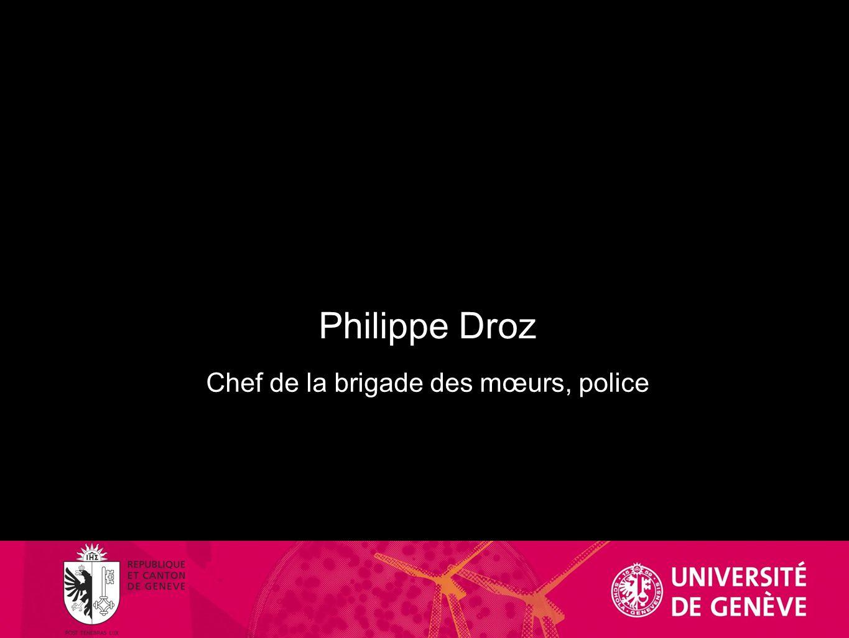 Philippe Droz Chef de la brigade des mœurs, police