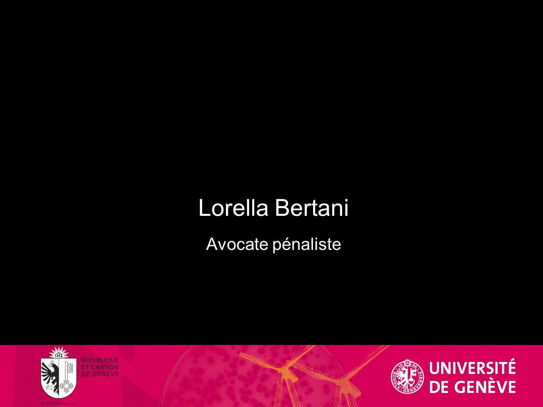 Lorella Bertani Avocate pénaliste