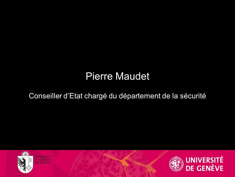 Pierre Maudet Conseiller dEtat chargé du département de la sécurité