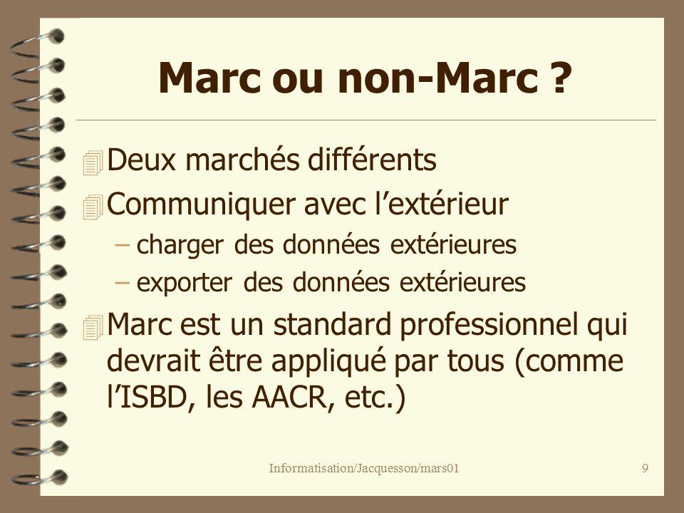Informatisation/Jacquesson/mars019 Marc ou non-Marc .