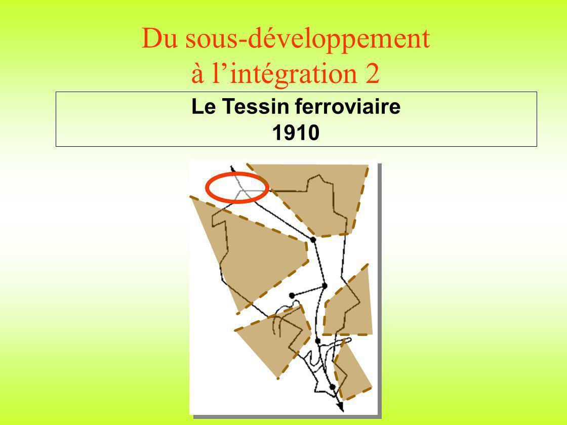 Du sous-développement à lintégration 2 Le Tessin ferroviaire 1910
