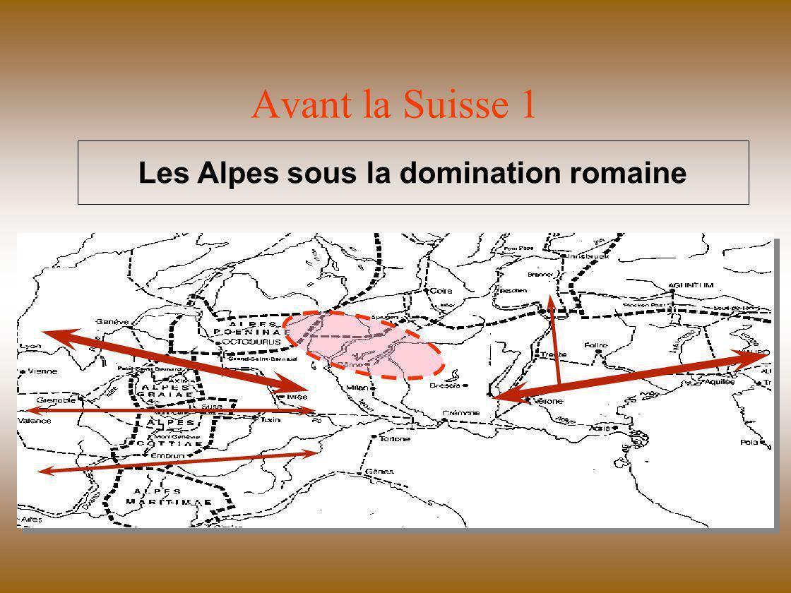 Avant la Suisse 2 Expansion des peuples germanophones V ème - XV ème siècle