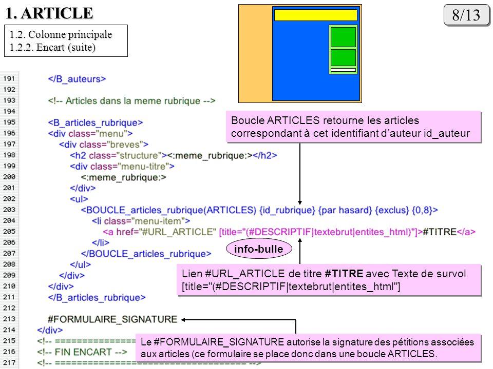 1. ARTICLE 8/138/13 Lien #URL_ARTICLE de titre #TITRE avec Texte de survol [title=