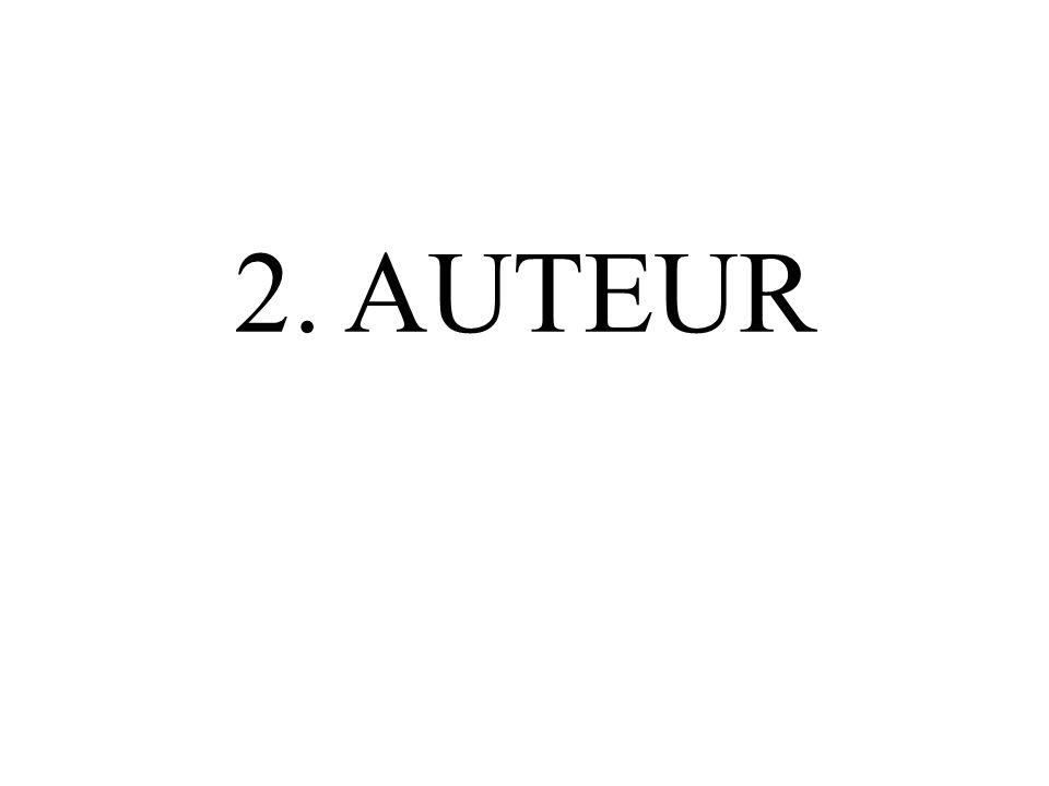 2. AUTEUR