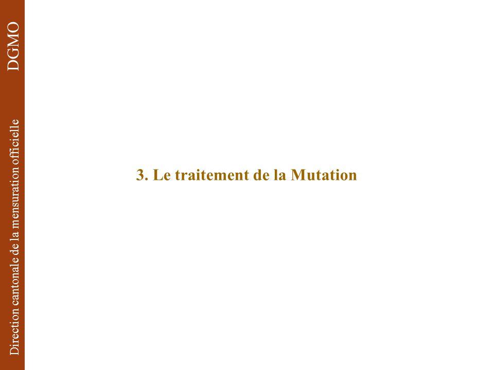 3. Le traitement de la Mutation