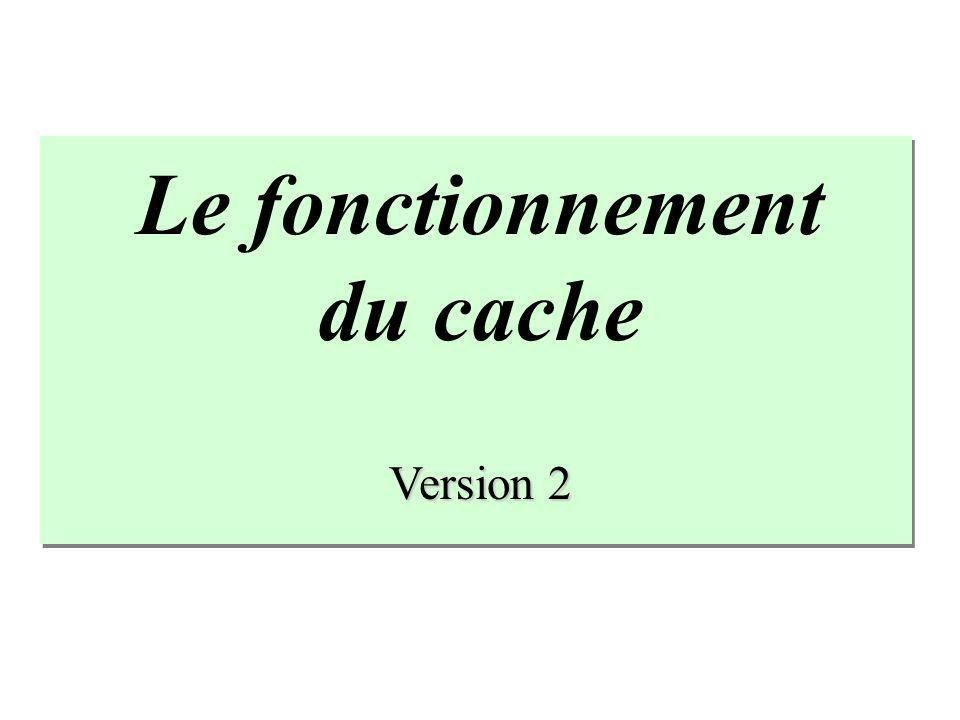 Le fonctionnement du cache Version 2