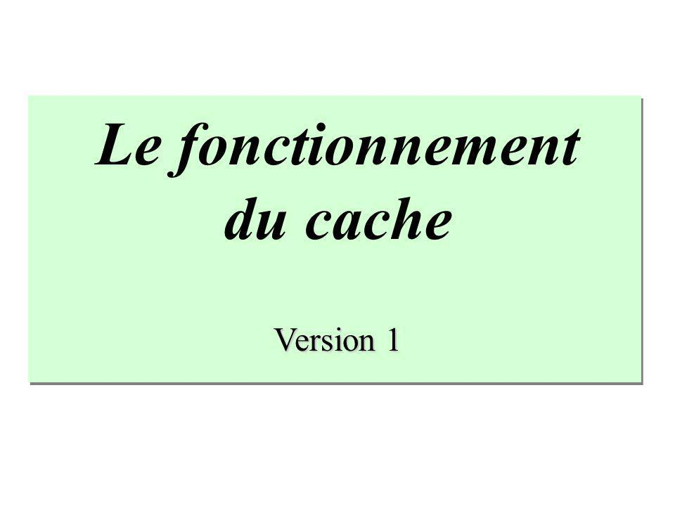 Le fonctionnement du cache Version 1