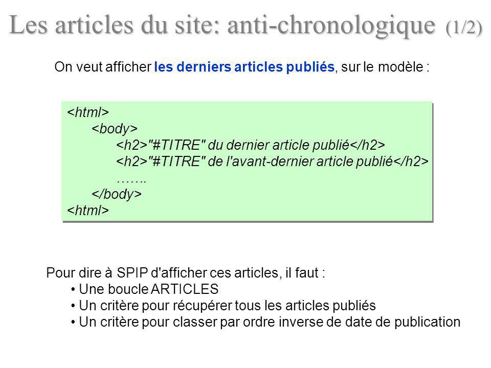 Les articles du site: anti-chronologique (1/2)