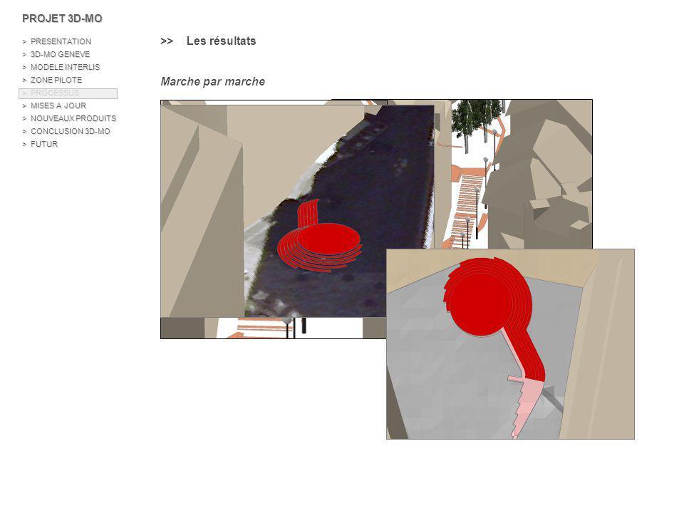 \\ Les arbres, lampadaires, antennes > Modèle de données : Shape 3D de type point avec un attribut hauteur Shape 3D type Point H : Hauteur de l objet ShapeObject_IDHauteur FIDSituationNiveau Point Z130.5 235Trottoir3 PROJET 3D-MO > PRESENTATION > 3D-MO GENEVE > MODELE INTERLIS > ZONE PILOTE > PROCESSUS > MISES A JOUR > NOUVEAUX PRODUITS > CONCLUSION 3D-MO > FUTUR