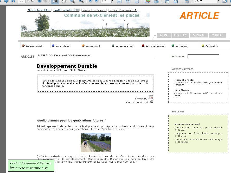 Portail Communal Erasme http://reseau.erasme.org/