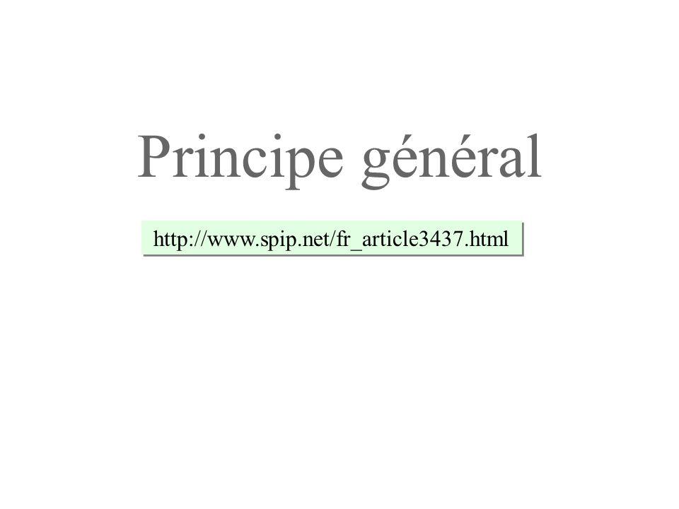 Lorsque la boucle est exécutée, la balise SPIP #TITRE est à chaque fois remplacée par le titre de larticle en question : Titre de l article 1 Titre de l article 2...