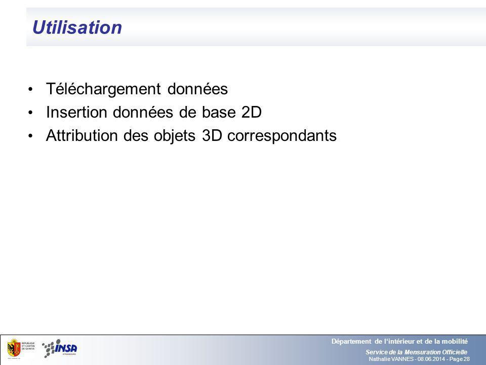 Nathalie VANNES - 08.06.2014 - Page 28 Utilisation Service de la Mensuration Officielle Département de lintérieur et de la mobilité Téléchargement don
