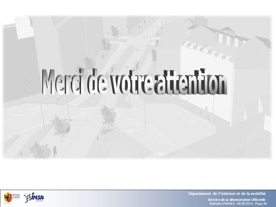 Nathalie VANNES - 08.06.2014 - Page 36 Service de la Mensuration Officielle Département de lintérieur et de la mobilité