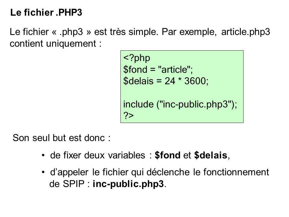 Le fichier «.php3 » est très simple.