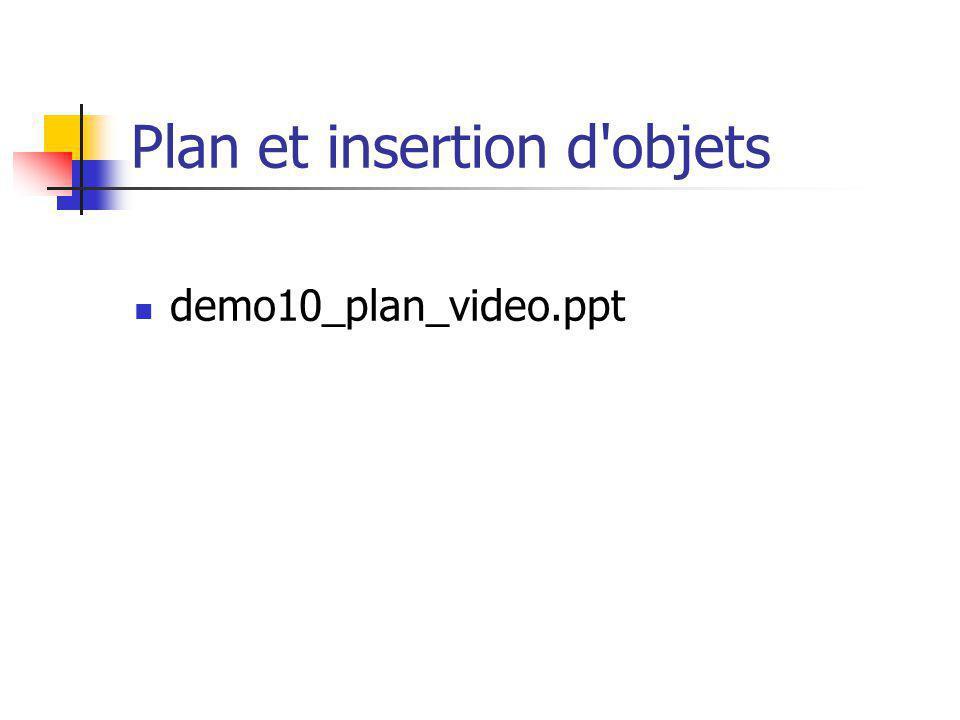 Plan et insertion d'objets demo10_plan_video.ppt