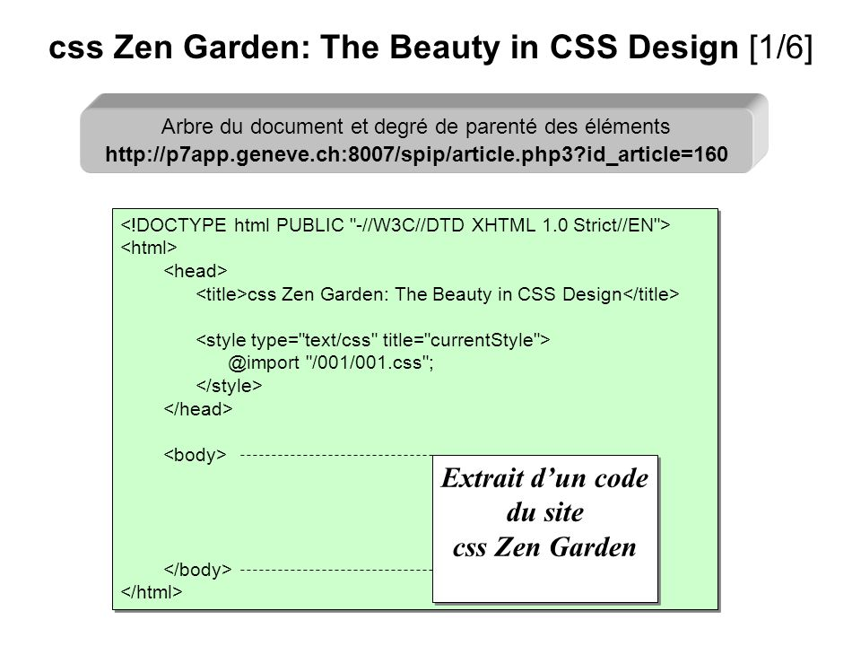 css Zen Garden: The Beauty in CSS Design @import