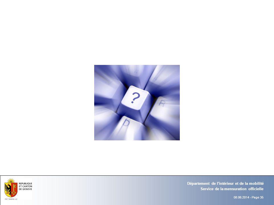 08.06.2014 - Page 35 Service de la mensuration officielle Département de l'intérieur et de la mobilité